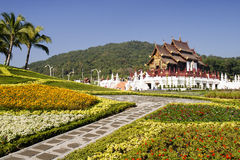 Traditional northern thai architecture Royalty Free Stock Photos