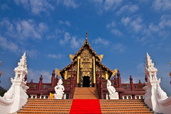 Traditional northern Thai style architecture Stock Photo