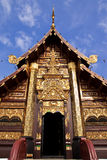 Traditional northern Thai style architecture Royalty Free Stock Images