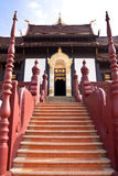 Traditional northern Thai style architecture Stock Image