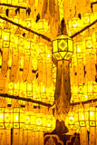 Traditional northern Thai style paper lamp Stock Photos