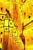 Traditional northern Thai style paper lamp Royalty Free Stock Photo