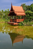 Traditional northern Thai style wood pavilion Royalty Free Stock Images