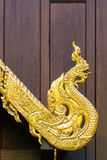 Traditional northern Thailand style Naga shaped sculpture Royalty Free Stock Image