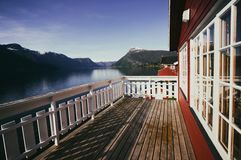 Traditional norwagian wooden house Royalty Free Stock Images