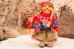 Traditional Norwegian doll Stock Photography