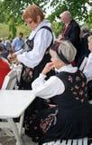 Traditional Norwegian dress bunad Stock Image