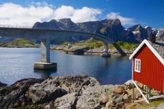 Norwegian bridge Royalty Free Stock Images