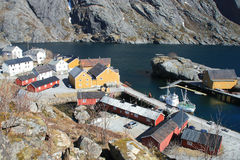 Traditional norwegian harbour Royalty Free Stock Photo