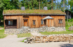 Traditional norwegian house Royalty Free Stock Photo