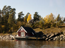 Traditional norwegian House Royalty Free Stock Images