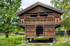 Traditional Norwegian House . Royalty Free Stock Photos