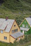 Traditional norwegian house near flam Royalty Free Stock Photography