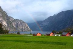 Traditional norwegian houses Royalty Free Stock Photography