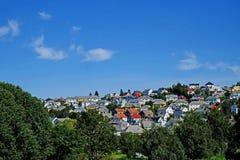 Traditional Norwegian houses Stock Image