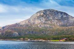 Traditional Norwegian landscape, North Sea coast Stock Photography