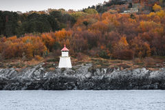 Traditional Norwegian lighthouse tower royalty free stock image
