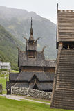 Traditional norwegian stave church. Borgund. Travel Norway. Tour Stock Image