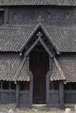 Traditional norwegian stave church detail. Borgund. Travel Norwa Royalty Free Stock Images