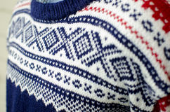 Traditional Norwegian Sweater Royalty Free Stock Photos