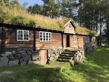 Traditional Norwegian timber house Royalty Free Stock Photos