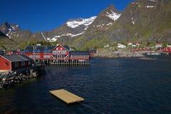 Traditional norwegian village Royalty Free Stock Image
