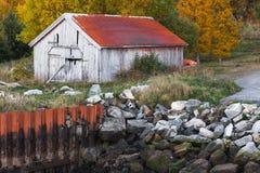Traditional Norwegian wooden barn Stock Photos