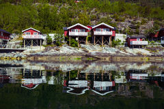 Traditional norwegian wooden house Royalty Free Stock Photography