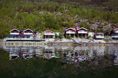 Traditional norwegian wooden house Stock Photos