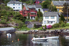 Traditional norwegian wooden house Royalty Free Stock Photos