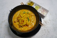 Traditional Nothern Thailand soup Khao Soi Stock Photography