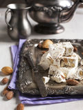 Traditional Nougat with Almonds Stock Image