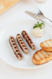 Traditional Nurnberger White Sausages Royalty Free Stock Image