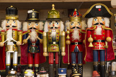Traditional Nutcracker souvenirs royalty free stock images