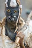Traditional Nyau dancer with face mask Stock Photos