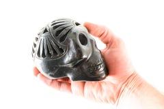 Traditional Oaxaca black Skull. Traditional Mexican Oaxaca black Clay Ceramic Vintage Skull royalty free stock photos