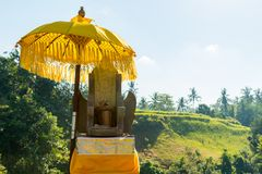Traditional offerings at Bali Royalty Free Stock Photos