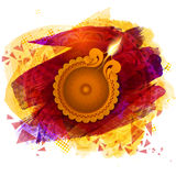 Traditional oil lit lamp for Happy Diwali celebration. Royalty Free Stock Photo