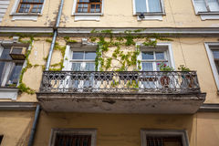 Traditional old balcony of house in Tbilisi. Georgia Royalty Free Stock Photo