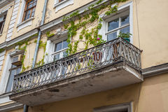 Traditional old balcony of house in Tbilisi. Georgia Stock Images