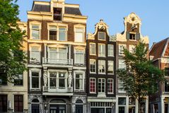 Traditional old buildings in Amsterdam. The Netherlands Royalty Free Stock Image
