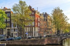 Traditional old buildings in Amsterdam. Stock Image