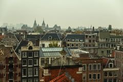 Traditional old buildings in Amsterdam. Stock Photography