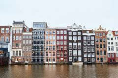 Traditional old buildings in Amsterdam, the Netherlands. Traditional old buildings in Amsterdam, the Netherlands Stock Images