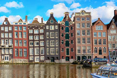 Traditional old buildings in Amsterdam Royalty Free Stock Images