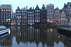 Traditional old buildings in Amsterdam, the Netherlands Royalty Free Stock Image