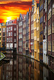 Traditional old buildings in Amsterdam Stock Images