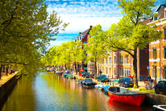 Traditional old buildings in Amsterdam Stock Photo