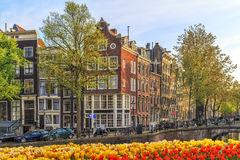Traditional old buildings in Amsterdam. Royalty Free Stock Images