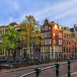 Traditional old buildings in Amsterdam. Stock Photo